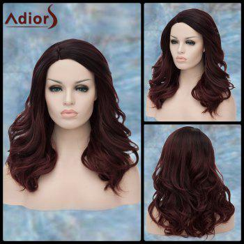 Adiors Wavy Long Shaggy Side Parting Synthetic Wig