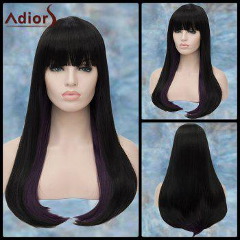 Adiors Long Straight Full Bang Synthetic Wig