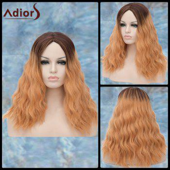 Adiors Middle Parting Long Shaggy Wavy Ombre Synthetic Wig