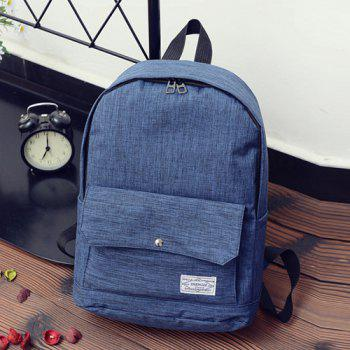 Wide Padded Straps Patch Design Nylon Backpack