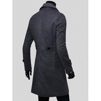 Wide Lapel Overcoat with Side Pockets - M M