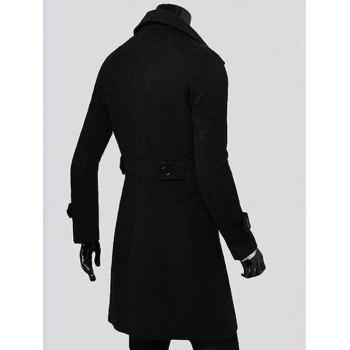 Wide Lapel Overcoat with Side Pockets - 2XL 2XL