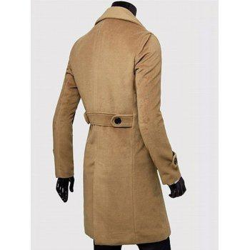Wide Lapel Overcoat with Side Pockets - 3XL 3XL