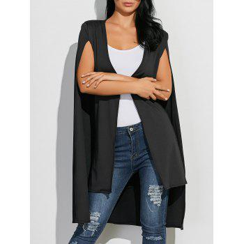 Open Front Loose Cape Coat