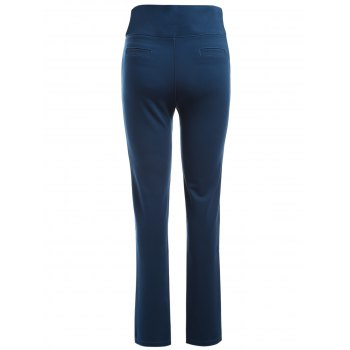 Plus Size Pocket Skinny Leggings - CERULEAN XL