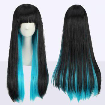 Stunning Long Neat Bang Straight Double Color Cosplay Synthetic Wig