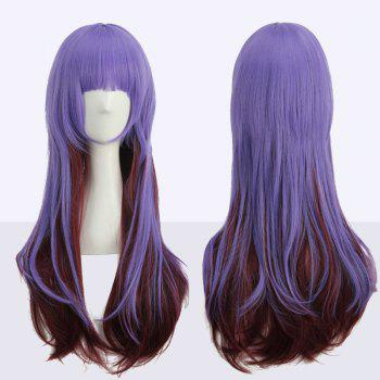 Long Neat Bang Straight Double Color Cosplay Synthetic Wig
