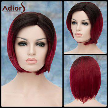 Adiors Short Silky Straight Ombre Side Parting Synthetic Wig