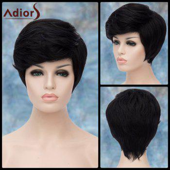 Adiors Short Side Parting Straight Fluffy Synthetic Wig