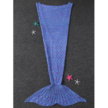 Super Soft Cable Knitted Mermaid Tail Shape Blanket