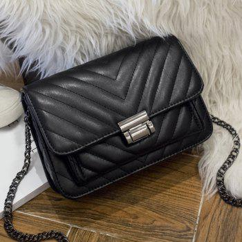 PU Leather Chains Quilted Crossbody bag