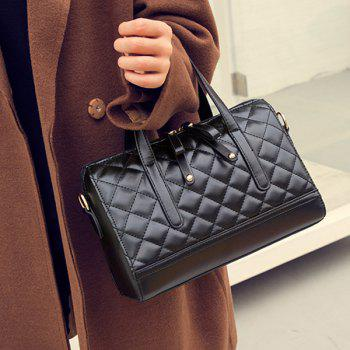 PU Leather Quilted Tote