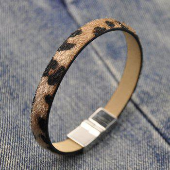 Leopard Print Faux Leather Bracelet