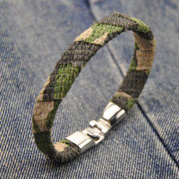 Camouflage Design Faux Leather Bracelet