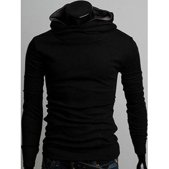 Pocket Front Pullover Plain Hoodie