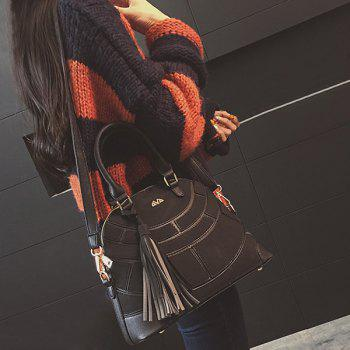 Tassel Patch PU Leather Handbag