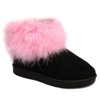 Furry Ankle Snow Boots