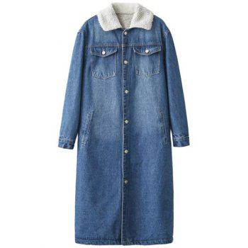 Fleece Lined Sherpa Denim Coat