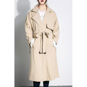 Lapel Double Breasted Longline Coat