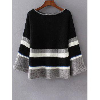 Loose Colorful Color Block Sweater
