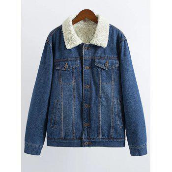 Vintage Lamb Wool Denim Jacket