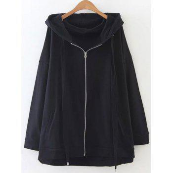 Zip Through Slouchy Oversized Hoodie