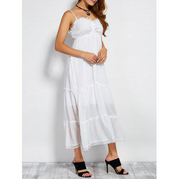 Lightweight Lace Edge Double-Deck Chiffon Slip Dress