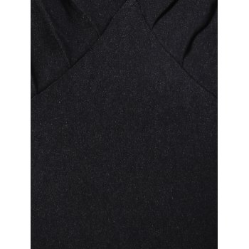 Summer Ruched Chest Swing Dress - BLACK M