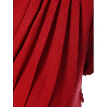 Summer Ruched Chest Swing Dress - RED M