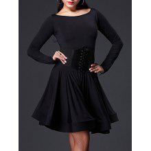 Long Sleeve Slimming A Line Dance Dress