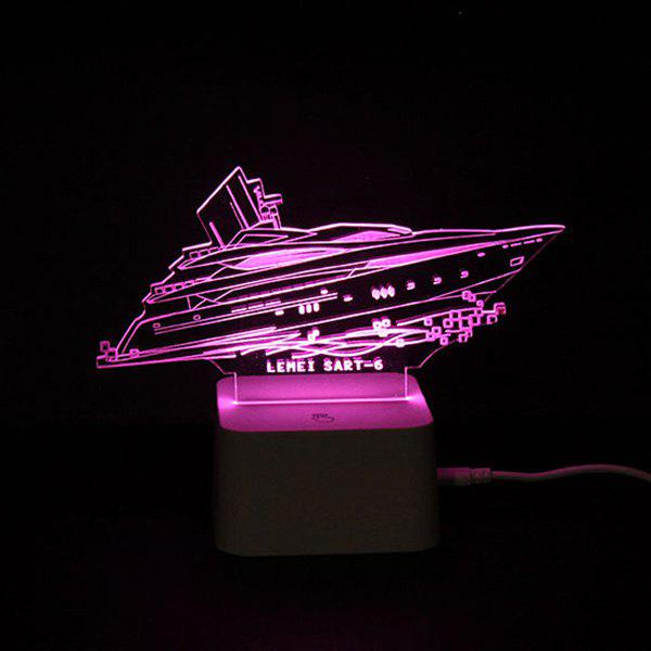 2018 lampe de nuit led yatch t l commande changement de couleur visuel 3d color in lampe led. Black Bedroom Furniture Sets. Home Design Ideas