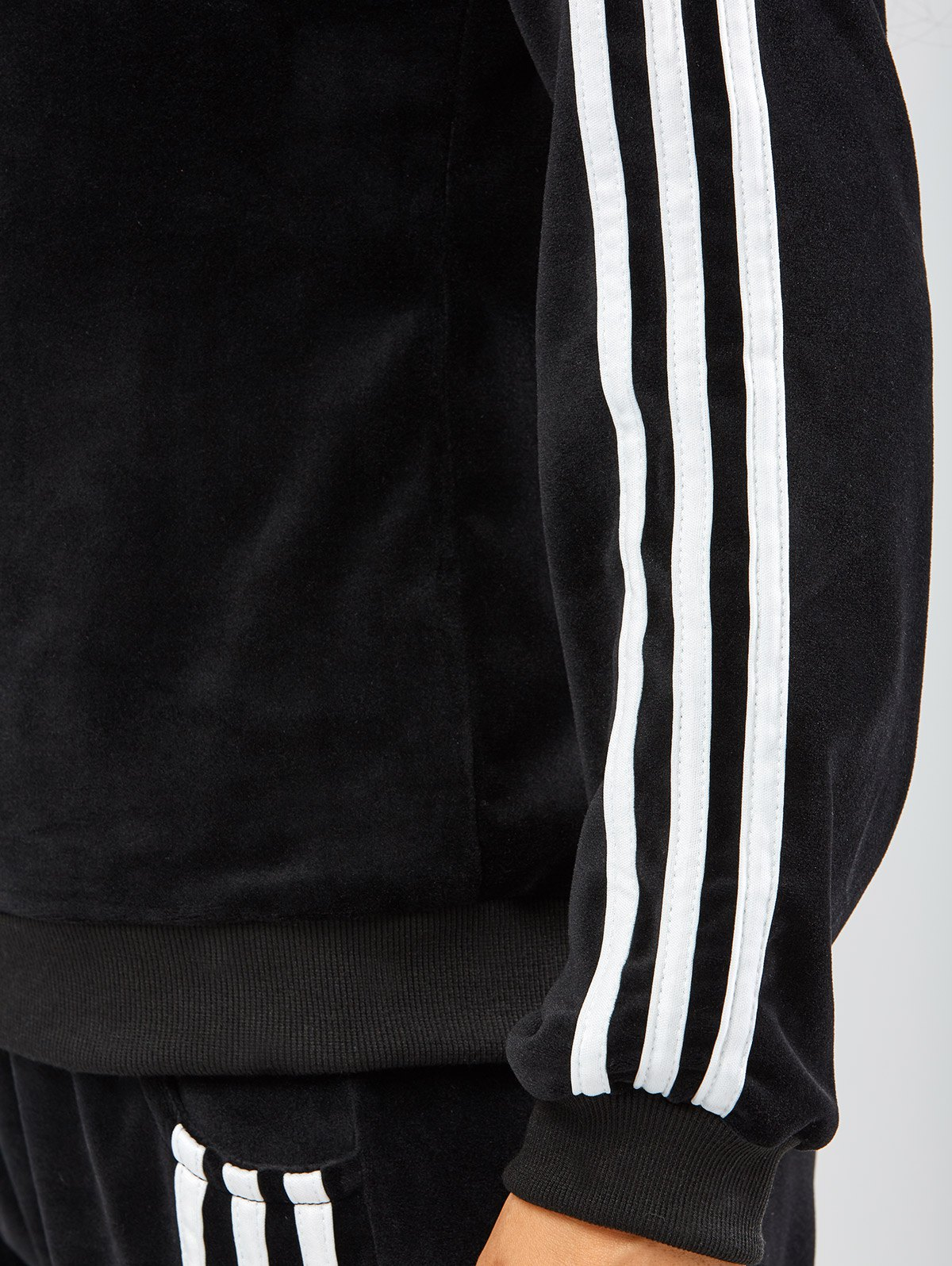Striped Trim Hoodie with Running Jogger Pants - BLACK XL