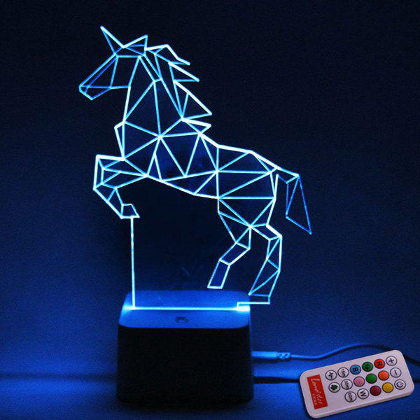 Color Changing 3d Visual Remote Control Horse Led Night