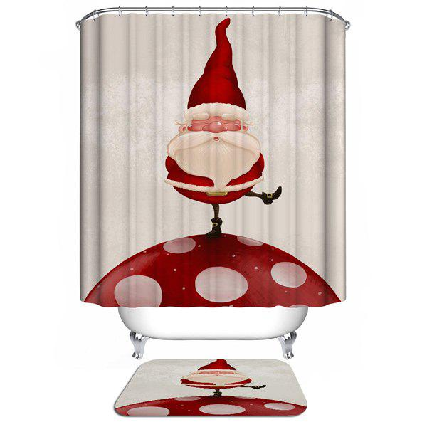 Santa Claus Design Waterproof Christmas Shower Curtain