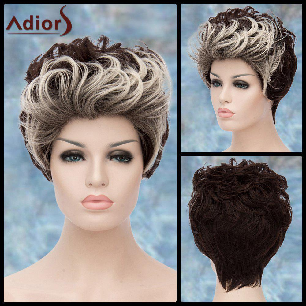 Short Fluffy Curly Double Color Adiors Lolita Synthetic Wig short