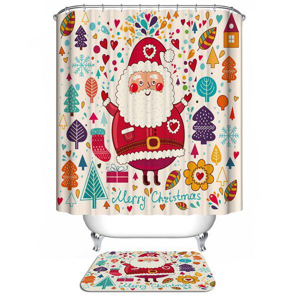 Colorful Merry Christmas Waterproof Bathroom Shower Curtain bathroom waterproof merry christmas pattern shower curtain