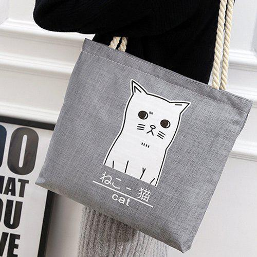 Kitten Print Shoulder Bag
