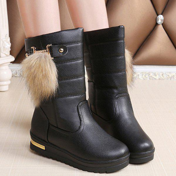 Metal PU Leather Mid Calf Boots high quality full grain leather and pu mid calf boots size 40 41 42 43 44 rhinestone decoration zipper design square heel boots