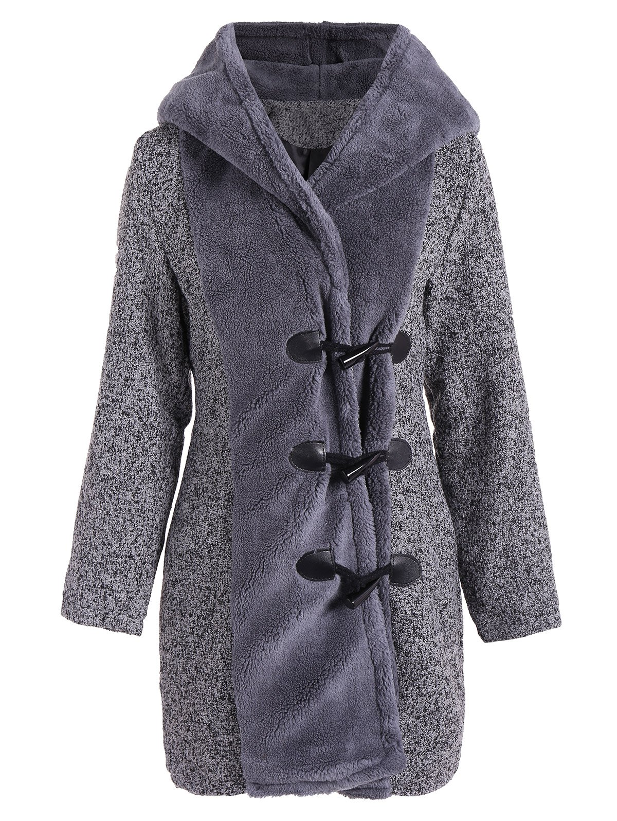 Duffle Hooded Coat - GRAY S