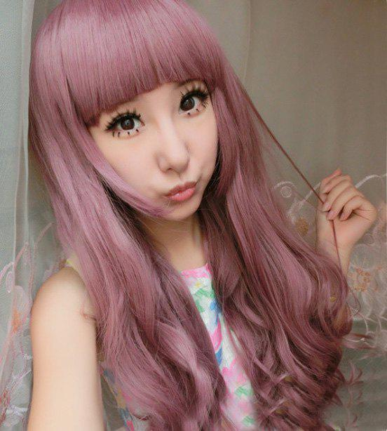 Long Curly Full Bang Cosplay Lolita Synthetic Wig cute sexy cosplay wig full bangs curly