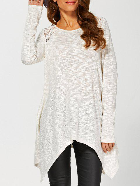 962bcbf3e4 17% OFF  2019 Lace Insert Asymmetrical Knitwear In OFF WHITE
