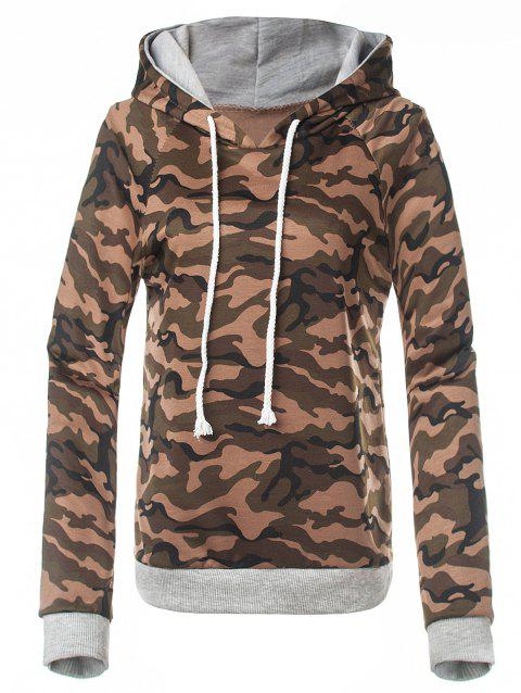 Fitted Camo Printing Hoodie - HUNTER XL