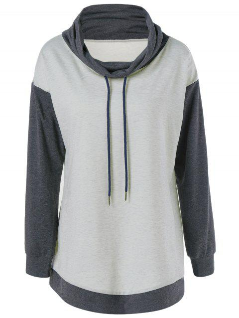 a4a28763381 LIMITED OFFER  2019 Plus Size Cowl Neck Drawstring Sweatshirt In ...