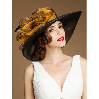 Floral Big Brim Kentucky Derby Organza Hat