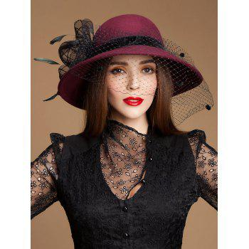 Wide Brim Wool Bowler Fedora Hat
