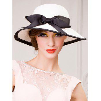 Wide Brim Bowknot Dome Straw Sun Hat