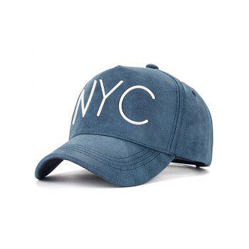 Casual NYC Letter Printed PU Leather Baseball Hat