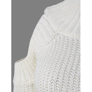 Cut Out Chunky Sweater - WHITE ONE SIZE