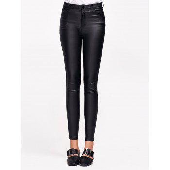Stretchy Faux Leather Slimming Pants