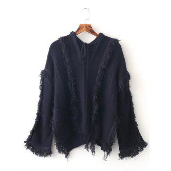 Batwing Sleeve Tassles Pullover Sweater
